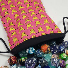 Load image into Gallery viewer, Pink Pikachu Pokemon Dicebag with Dice