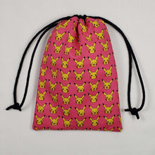Load image into Gallery viewer, Pink Pikachu Pokemon Dicebag Strings Pulled