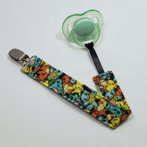 Pokemon Characters Pacifier Clip with Pacifier