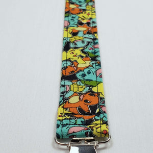 Pokemon Characters Pacifier Clip Close Up with Clip