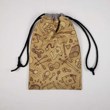 Load image into Gallery viewer, RPG Adventuring Kit Drawstring Dice Bag Strings Pulled