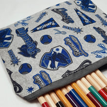 Load image into Gallery viewer, Ravenclaw Emblems Zipper Pouch Close Up