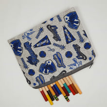 Load image into Gallery viewer, Ravenclaw Emblems Zipper Pouch Top View