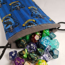 Load image into Gallery viewer, Ravenclaw Harry Potter House Drawstring Dice Bag with Dice