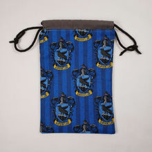 Load image into Gallery viewer, Ravenclaw Harry Potter House Drawstring Dice Bag Open