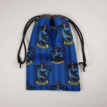 Load image into Gallery viewer, Ravenclaw Harry Potter House Drawstring Dice Bag Strings Pulled