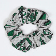 Load image into Gallery viewer, Slytherin Emblem Scrunchie Top View