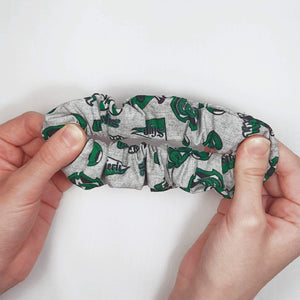 Slytherin Emblem Scrunchie Stretched for Pattern