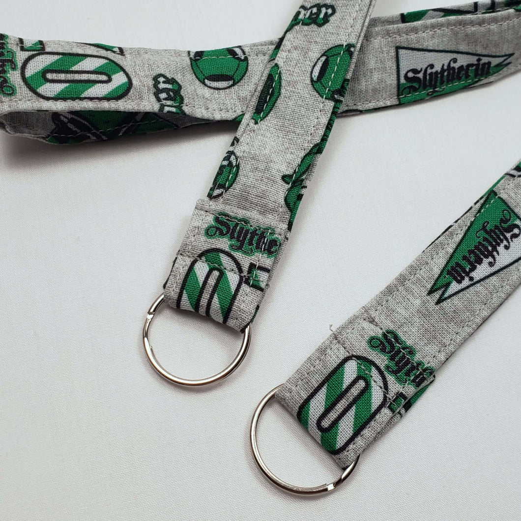 Slytherin Emblems Lanyard and Key Fob with Split Ring