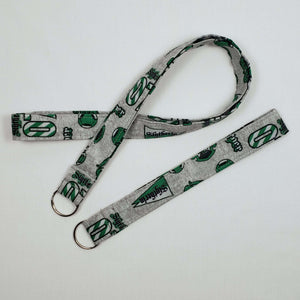 Slytherin Emblems Lanyard and Key Fob Full View
