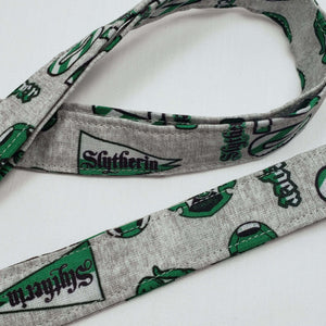 Slytherin Emblems Lanyard and Key Fob Close Up
