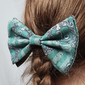 Slytherin Crest Hair Clip in Hair