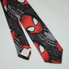 Load image into Gallery viewer, Spiderman Faces Necktie Front and Back