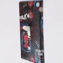 Load image into Gallery viewer, Spiderman Symbols Outlet Cover Side View