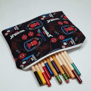 Spiderman Symbols Zipper Pouch with Pencils