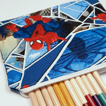 Load image into Gallery viewer, Spiderman Zipper Pouch Close Up