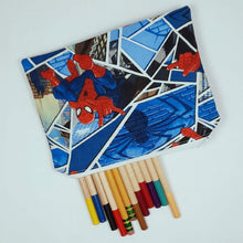 Load image into Gallery viewer, Spiderman Zipper Pouch Top View