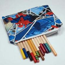 Load image into Gallery viewer, Spiderman Zipper Pouch with Pencils