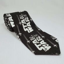 Load image into Gallery viewer, Star Wars Tie Fighter Necktie Rolled