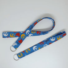 Load image into Gallery viewer, Star Wars Rebellion Symbols Lanyard and Key Fob Full View