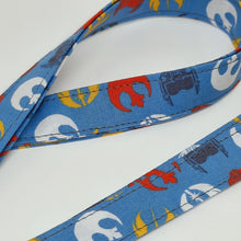 Load image into Gallery viewer, Star Wars Rebellion Symbols Lanyard and Key Fob Close Up
