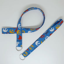 Load image into Gallery viewer, Star Wars Rebellion Symbols Lanyard and Key Fob Looped