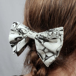 Star Wars Stormtrooper Hair Clip in Hair
