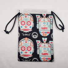 Load image into Gallery viewer, Star Wars Sugar Skull Drawstring Dice Bag Open