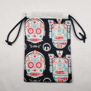 Star Wars Sugar Skull Drawstring Dice Bag Open