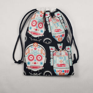 Star Wars Sugar Skull Drawstring Dice Bag Strings Pulled