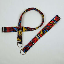 Load image into Gallery viewer, Swinging Spiderman Lanyard and Key Fob Looped