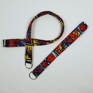 Swinging Spiderman Lanyard and Key Fob Looped