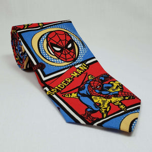 Swinging Spiderman Necktie Rolled