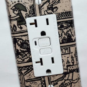 Tribal Style Zelda Outlet Cover Close Up