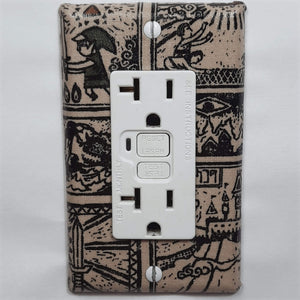 Tribal Style Zelda Outlet Cover Front View