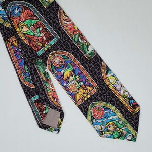 Legend of Zelda Stainglass Necktie Front and Back