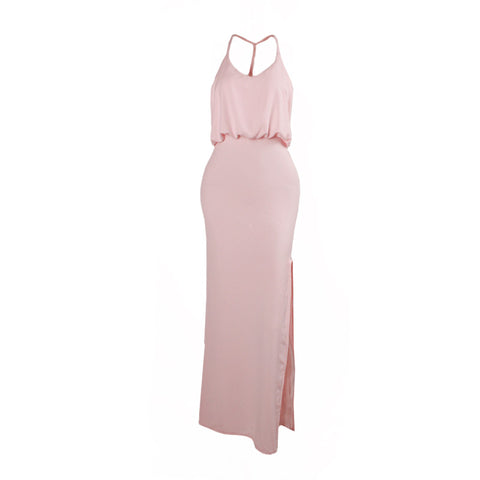Pretty in Pink High Slit Maxi Dress