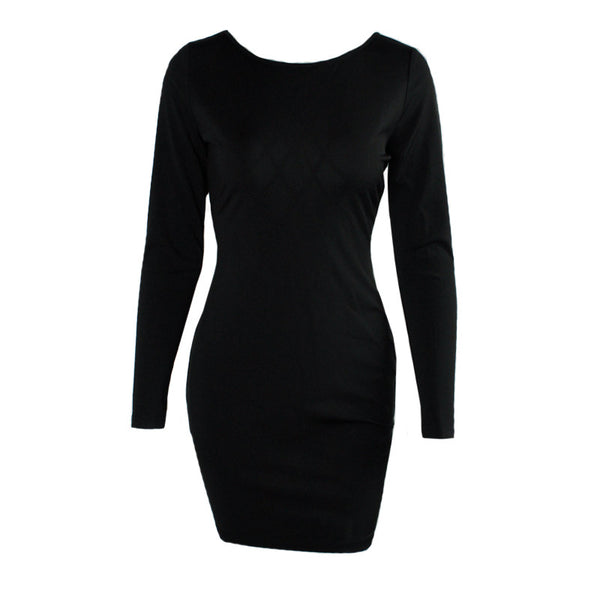 Sexy Back Little Black Bodycon Dress