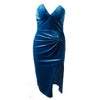 Velvet Strapless Bodycon Dress