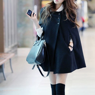 Wool Cape Cloak Coat