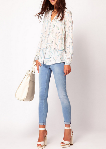 Birds of a Feather Chiffon Blouse