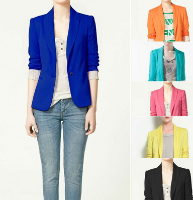 Bright Poppy Neon Blazer
