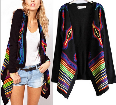 Luxe Aztec Draped Cardigan