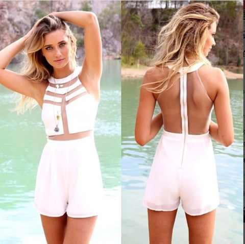 Peek-a-Boo Panel Romper