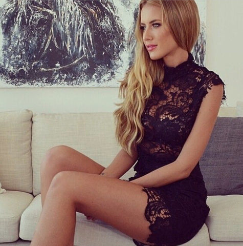 Exquisite Oriental Lace Bodycon Dress