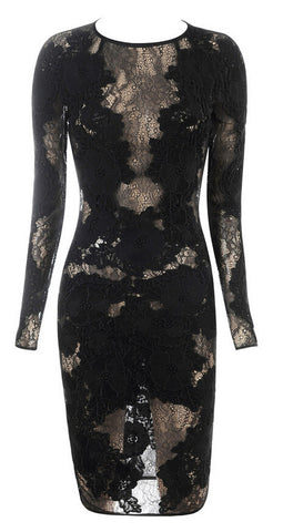 Dare to Bare Lace Bodycon Dress