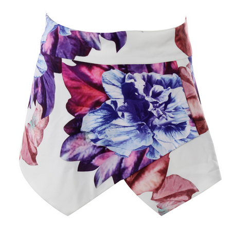 Floral Blooms Asymmetrical Shorts