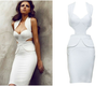 Bandage Cutout Midi Bodycon Dress