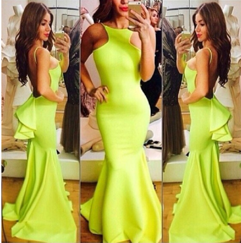 Lush Mermaid Tail Maxi Dress