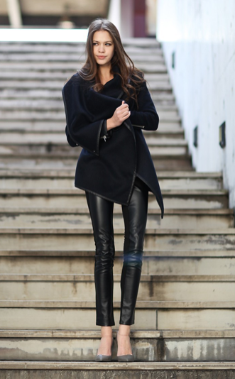 Luxe & Leather Trench Jacket